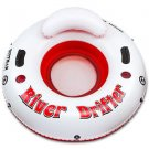 River Drifter 1 Person Float Tube  Rafting Lounge Inner Inflatable