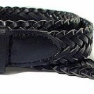 Genuine Leather Braided Belt Black or Brown Dress Casual Sizes S-3XL