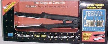 "Jeegol Ceramic Ionic 220 W Flat Iron Professional 1"" Hair Hot Curling Straighter"