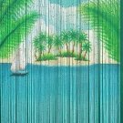 Natural Bamboo Beaded Curtain VW Bus Surf Beads Window Doors Room Divider New