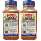 2- PAPPY'S 50% Less Salt Choice Seasoning Spice BBQ Rub 28 OZ Professional BLUE