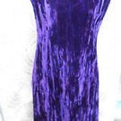 Betsey Johnson L VINTAGE LUXE Dress CRUSHED VELVET Royal Purple DEEP V BACK Maxi