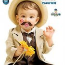 BabyStache Kissable Baby Pacifier ROMEO Brown Child Infant Shower Gift