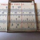 Frederick Post Co 1447 Slide Rule w/  Hard Case Sun Hemmi Japan Vintage Ruler