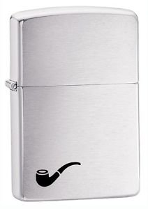 Zippo Pipe Lighter Brushed Chrome Windproof Lifetime Guarantee Made in USA New