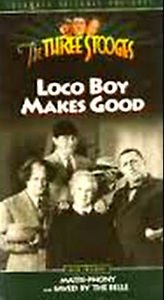 The Three Stooges LOCO BOY MAKES GOOD VHS Video Tape Plus 2 Extra Episodes