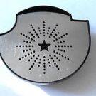 KEURIG B70 B77 K70 K75 Black Drip Tray & Silver Metal Cover OEM Replacement