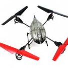 "5.1"" WLtoys V959 4-Axis 4 CH RC Quad copter Camera Lights Gyro 2.4G Drone HG59"