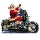 Santa Motorcycle Christmas Cardboard Cutout Standup Standee Holiday Display