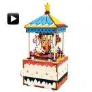 3D Wooden Puzzle Carousel Crank Music Box Robotic Robotime Jigsaw DIY Wood
