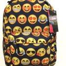 Emoji Backpack Black School Pack Bag Back Pack Shoulder Smile Face Smiley USA