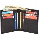Men's Solid Genuine Lambskin Leather Bi-Fold Wallet