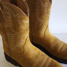 Ariat Men's Sierra Saddle Leather Cowboy Western Work Boots Sz 10.5 D - 10002304