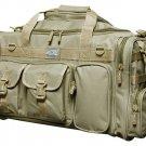 "26"" Tan Tactical Duffel Dufflebag Range Bag Molle Straps Multi Pocket Carry On"