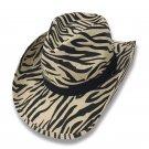 Cowboy Cowgirl Hat ZEBRA Stripes Rodeo Western One Size West Garden Sun Girl
