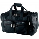 """Genuine Leather 19"""" Duffle Bag Gym Bag Carry On Bag New Unisex Travel Workout"""