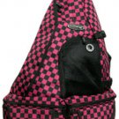 Messenger Sling Body Bag 1 Strap Backpack Fuchisia  School Book Hiking Fashion