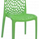 Patio Chairs Indoor Outdoor Set Of 2 Green Stackable Dining Cafe Garden Porch