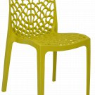 Patio Chairs Indoor Outdoor Set Of 2 Yellow Stackable Dining Cafe Garden Porch