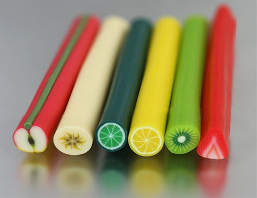 Clay Fruit Stick - Apple