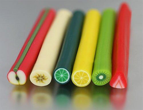 Clay Fruit Stick - Kiwi