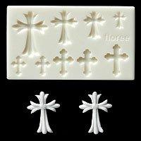 Miniature Cross - Sweet Deco - Floree Clay Mold
