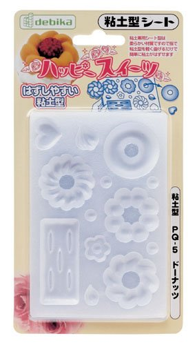Reusable Mold for Making Clay Donut PQ-5 - Flexible - Sweet Deco