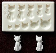 Miniature Cat (B) - Animal Series - Sweet Deco - Floree Clay Mold