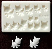 Miniature Cat (A) - Animal Series - Sweet Deco - Floree Clay Mold
