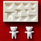 Miniature Bear - Animal Series - Floree Clay Mold