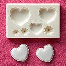 Clay Mold - Fake Miniature Heart Macaron - Sweet Deco - Reusable