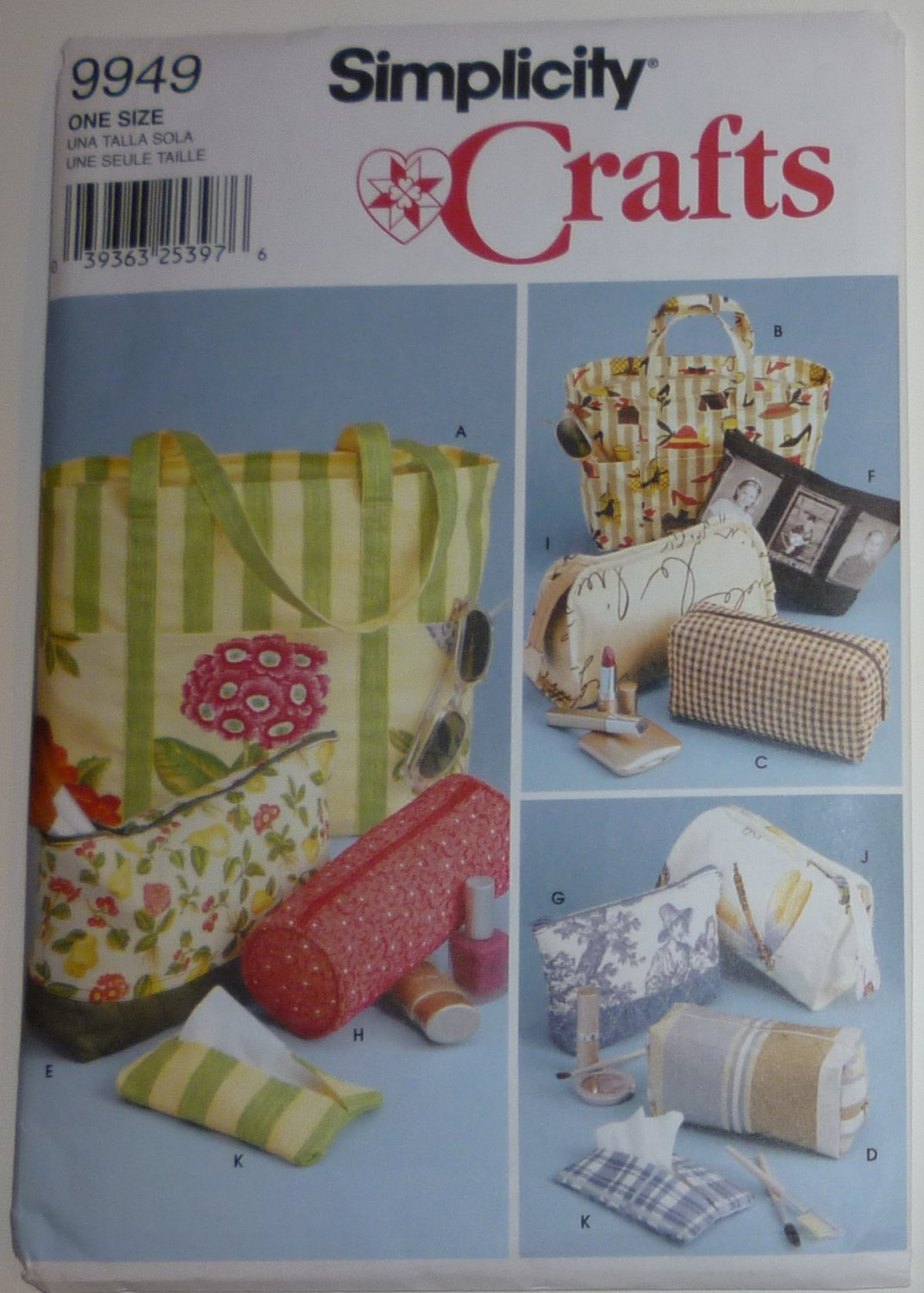 SEWING PATTERN - Bags in Various Sizes - # 9949