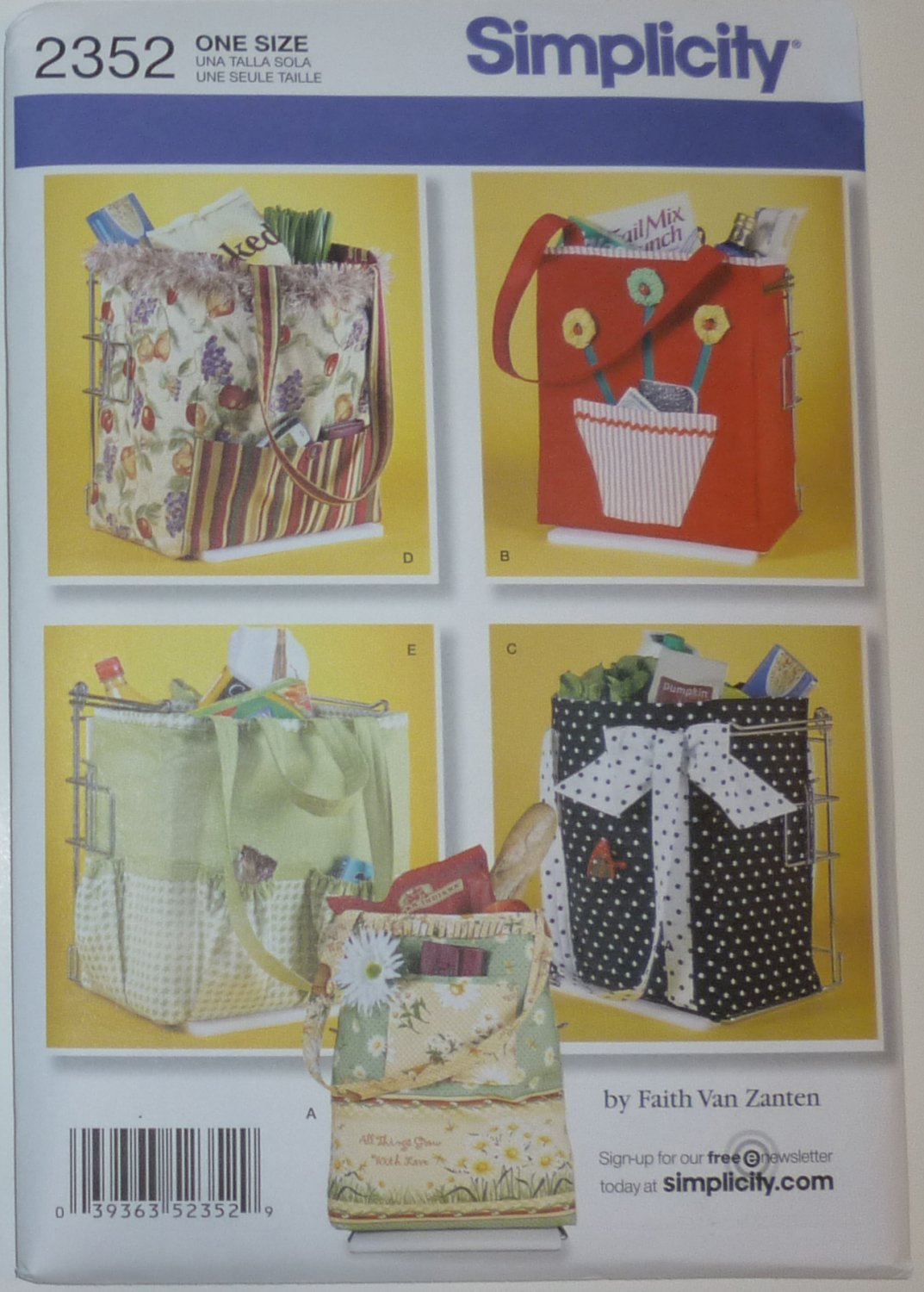 SEWING PATTERN - Shopping Bags - # 2352