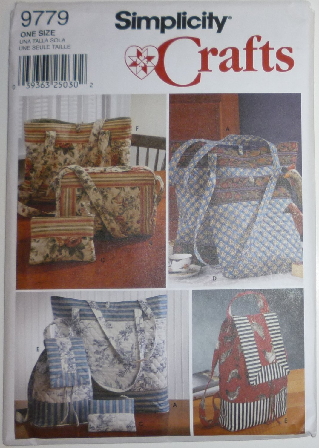 SEWING PATTERN - Tote Bags, Bag pack, Purse - # 9779