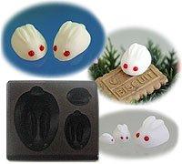 Clay Mold - Miniature Snow Rabbit (B) - Animal Series - Floree Clay Mold - Sweet Deco