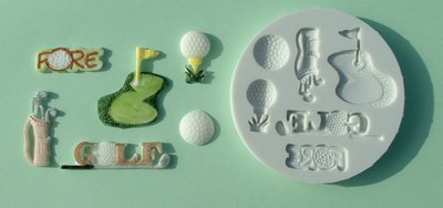 FOOD GRADE MOLD - The Sport Theme (golf) - Cake Decorating Mold - The Art of Cake Dressing - (03)