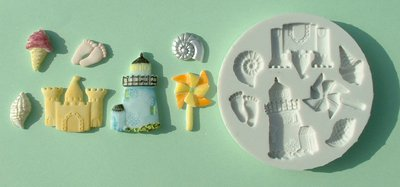 FOOD GRADE MOLD - The Seaside Theme Design - Cake Decorating Mold - The Art of Cake Dressing - (04)
