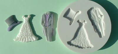 FOOD GRADE MOLD - The Wedding Theme Design - Cake Decorating Mold - The Art of Cake Dressing - (06)