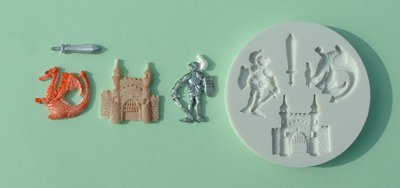 FOOD GRADE MOLD - The Medieval Theme Design - Cake Decorating Mold - The Art of Cake Dressing - (07)