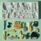 FOOD GRADE MOLD - Music Theme Design - Cake Decorating Mold - The Art of Cake Dressing - (16)