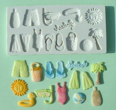 FOOD GRADE MOLD - Beach Theme Design - Cake Decorating Mold - The Art of Cake Dressing - (18)