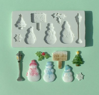 FOOD GRADE MOLD - Winter Snow Theme Design - Cake Decorating Mold - The Art of Cake Dressing - (20)