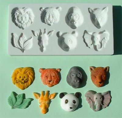 FOOD GRADE MOLD - Large Animal Head Design - Cake Decorating Mold - The Art of Cake Dressing - (21)