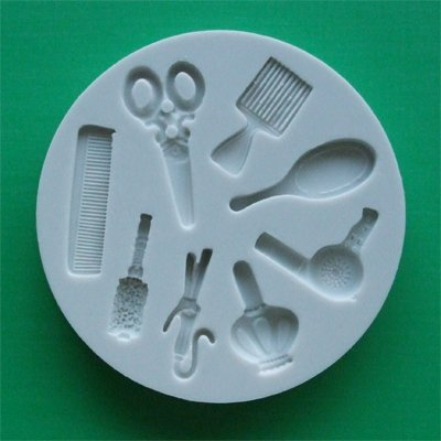 FOOD GRADE MOLD - Hairdressing Theme Design - Cake Decorating Mold - The Art of Cake Dressing - (61)