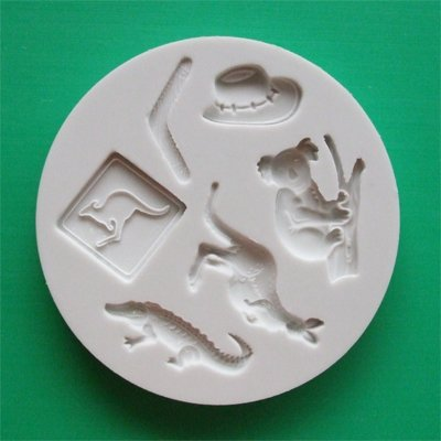 FOOD GRADE MOLD - Australia Theme Design - Cake Decorating Mold - The Art of Cake Dressing - (59)
