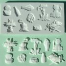 FOOD GRADE MOLD - Cats Theme Design - Cake Decorating Mold - The Art of Cake Dressing - (26)