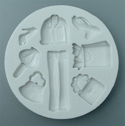 FOOD GRADE MOLD - Shopping Theme Design - Cake Decorating Mold - The Art of Cake Dressing (44)