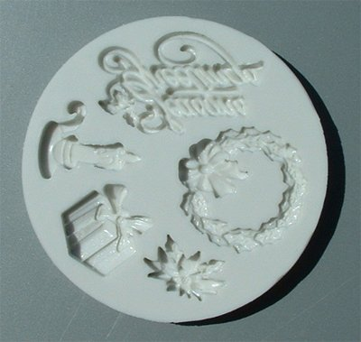 FOOD GRADE MOLD - Seasons Greetings Theme - Cake Decorating Mold - The Art of Cake Dressing (45)