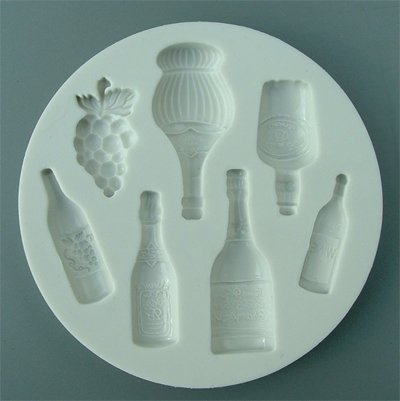 FOOD GRADE MOLD - Assorted Bottles Design - Cake Decorating Mold - The Art of Cake Dressing (49)