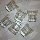 Six Small Glasses - Dishwater Safe - for Liquor or for your Art and Craft Work